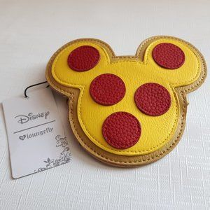 Loungefly Mickey Pizza Icon Coin Purse Disney NWT